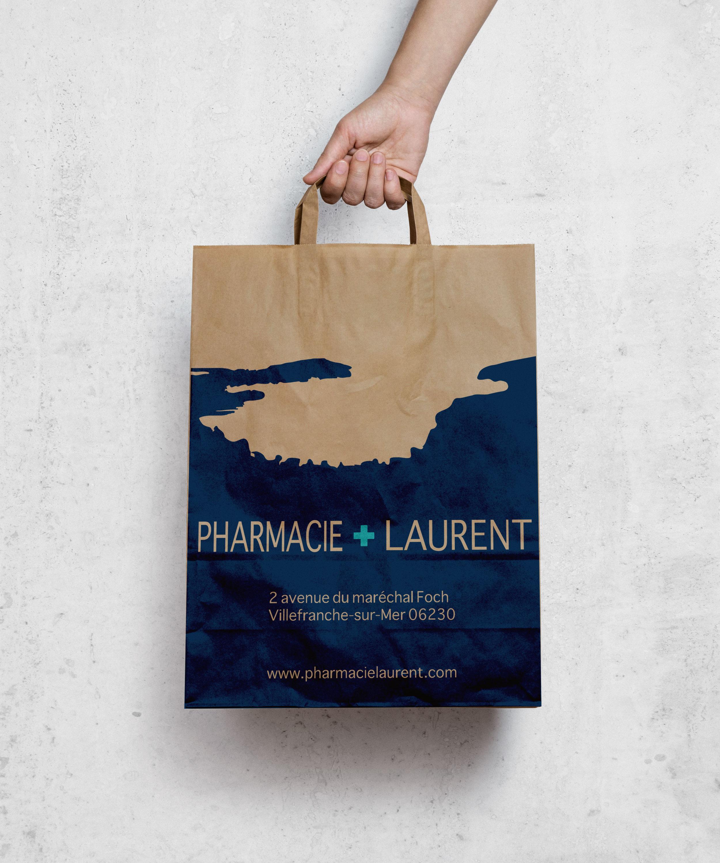 Pharmacie-Laurent-Brown-paper-bag